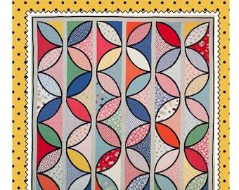 Petal Panels:  quilt pattern.