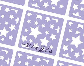 Scattered Stars Nail Vinyl - Nail Stencil for Nail Art