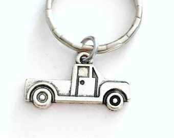 Truck KeyChain, Gift for Trucker Keyring, Truck Key Chain Christmas Present for Dad Boyfriend Birthday gift, truck drivers Boys him son her
