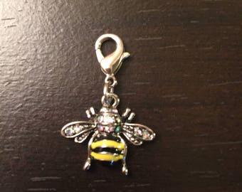 Bee Handbag zipper charm