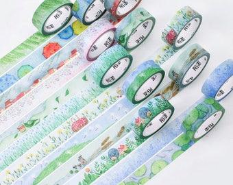 Seasons Washi Tape,Spring, Rain, Birds, Grass