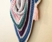 Crochet Shawl PATTERN - Crochet Triangle Scarf Pattern - Crochet Wrap Pattern - Spring Crochet Pattern - Easy Crochet Pattern