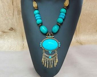 "Ethnic necklace"" Inca"" inspiration"
