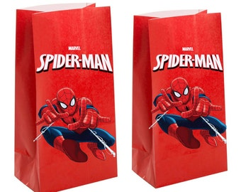 Marvels spiderman Party gift Favor Bag ~ Birthday Party Inspired Decorations & Decor