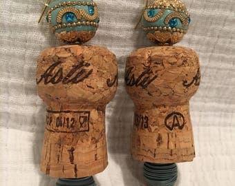 Handmade Champagne Cork Earrings