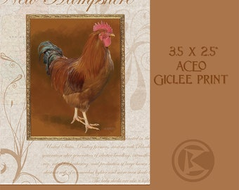 ACEO New Hampshire Rooster