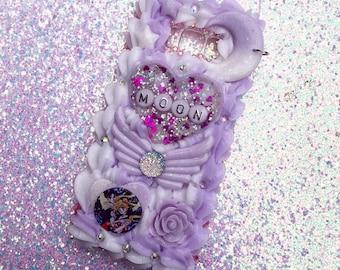Ready-To-Ship Samsung Galaxy S8 Sailor Moon and Tuxedo Mask Decoden Phone Case