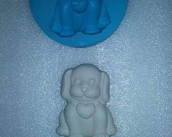 Doggy mould, silicone mould, plaster mould, mould for resin