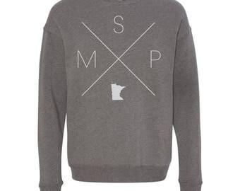 Minneapolis Sweatshirt - MSP Home Sweater, Minneapolis Off Shoulder Sweatshirt