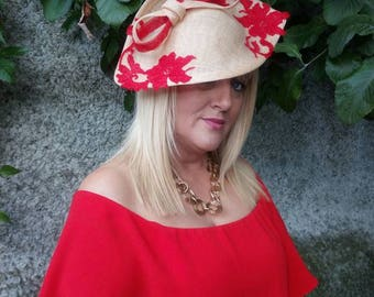 Gold and Red hat