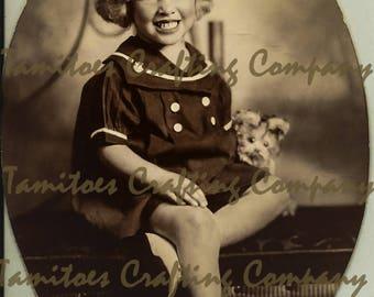 Vintage Photo of Girl circa 1935