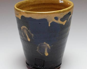 NOW SOLD.....Pottery beakers, ceramic beakers, ceramic cups, cream cups, small vase, ceramic tumblers