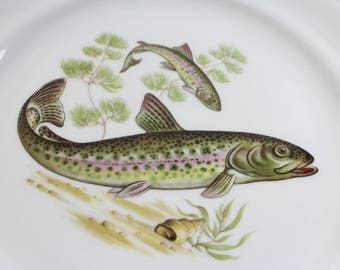 FischTeller dishes from the 50s Seltmann Bavaria Germany
