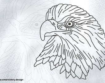 Reasonable eagle embroidery design - downloadable - 3 sizes