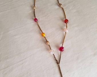 CHANEL Gripoix Necklace Pendant Vintage 96A Gold tone CC Logos