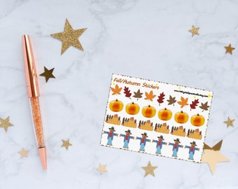 Fall/Autumn Planner Stickers, Fall Stickers, Autumn Stickers, Pumpkin Stickers, Vinyl Stickers