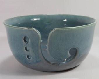 Unique Pottery Yarn Bowl, Ceramic Yarn Bowl, Knitting Bowl, Crochet Bowl, Country Chic, Rustic Yarn Bowl