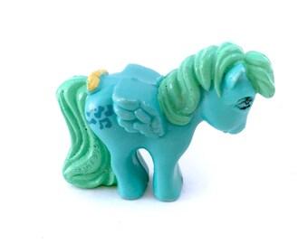 G1 My Little Pony Medley Pegasus PVC Plastic Mini Figurine Figure Green Music Notes RARE Scarce 80s Hasbro Original Ponies Winged Wings