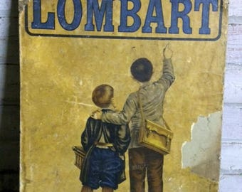 Vintage French Advertising Board - Chocolat Lombart