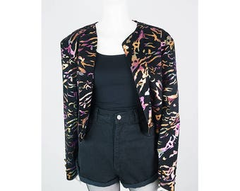 Vintage short jacket with All-Over pattern