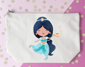 Disney Quote makeup bag- Cosmetic bag- Unique gift- Jasmine- Aladdin - Disney princess- Personalised- Disney lover-disney gift- princess