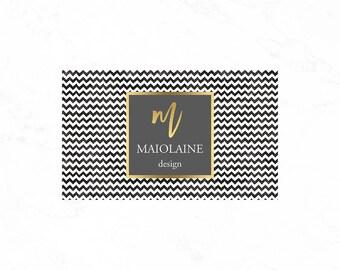 Black striped business card design, luxury business card design, luxury call card design