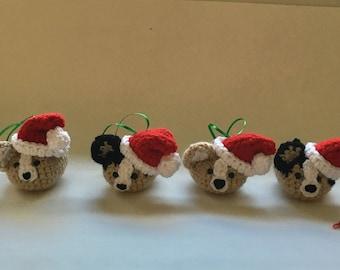 Amigurumi Corgi Loaf Christmas ornaments, corgi ornaments, christmas gift, corgi, gift for everyone, gifts under 20 dollars