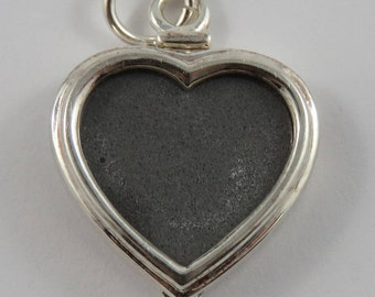 Sterling Silver Heart Shaped Photo Pendant
