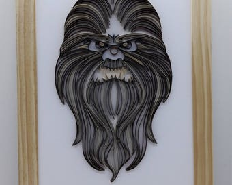 Star Wars Quilling - ChewBacca