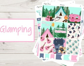 Glamping Weekly Kit | Planner Stickers
