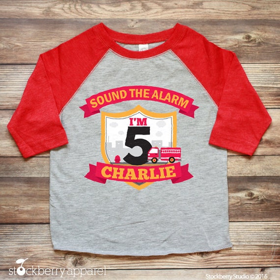 Firetruck Birthday Shirt