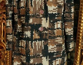 Vintage 1960's Frankel's Springfield, MA Mod Genuine Fur Trimmed Coat