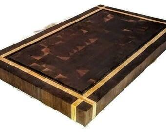 End grain Butcher block, kitchen island, chopping block, Wedding gift, End grain butcher block, Kitchen decor, Extra large cutting board