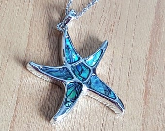 Star Fish Necklace, Starfish Necklace, Abalone Starfish,Abalone Star Fish,Beach Necklace,Ocean Necklace,Star Fish Jewelry,Starfish Jewellery