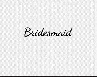 bridesmaid svg dxf jpeg png file stencil monogram frame silhouette cameo cricut clip art commercial use