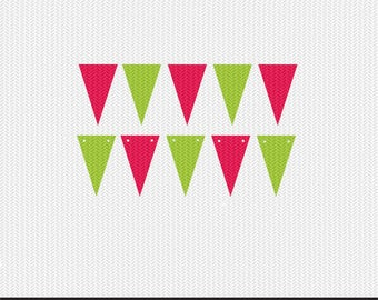 triangle banner tag baby shower birthday party svg dxf jpeg png file stencil monogram frame silhouette cameo cricut clip art commercial use