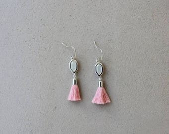 Arielle pink and Silver earrings