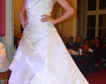 ROBE DE mariée  taffetas  ivoire