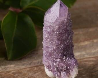 One Large SPIRIT QUARTZ Crystal Point - Purple Amethyst Quartz Point, Healing Crystal, Amethyst Crystal, Spirit Quartz Cluster E0471