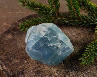 155g Tumbled Raw AQUAMARINE Crystal - Raw Crystal, Aquamarine Stone, Chakra Crystal, Healing Crystal, Tumbled Gemstone, Chakra Stone 36815