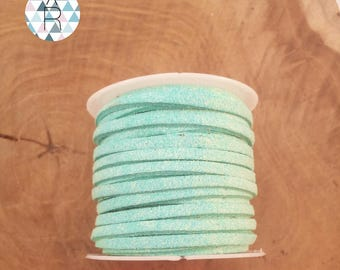 5 meters of 3mm turquoise suede cord