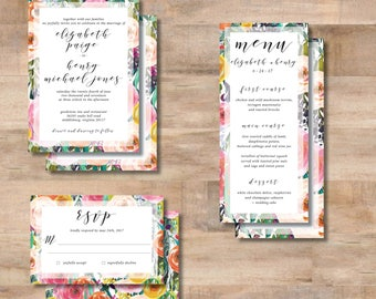 E + H Wedding Invitation Suite