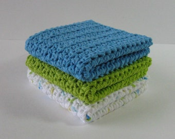 Crochet Dishcloths, Crochet Dishcloth Set, Dish Cloth, Crochet Dishrags, Cotton Dishcloth, Crochet Washcloths, Housewarming, Bridal Shower