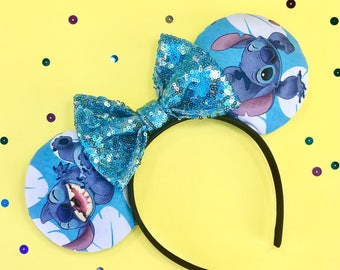 Disney inspired lilo and stitch Minnie Mickey Mouse ears