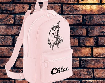 Personalised Bag, Gift Idea, Unicorn Accessories, Unicorn Backpack, Mini Backpack, Small Bag, Unicorn Bag, Back To School, LegendAttire