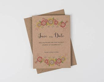 Floral Save the Date, Rustic Save the Date, Romantic Save the Date, Vintage Save the Date, Spring Save the Date, Boho Save the Date