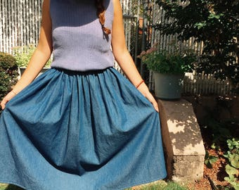Lasso Lightweight Denim Skirt (Fill out measurements form below)