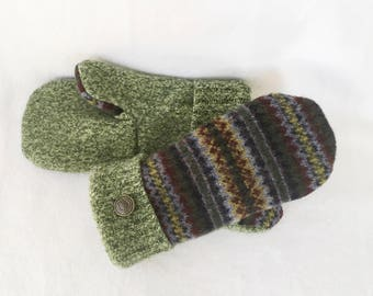 Sweater Mittens, Recycled Sweater Mittens, Lined sweater Mittens, Women's Mittens, Wool Mittens, Gifts, Winter Mittens