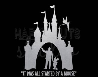 Disney Castle Walt Disney Mickey Tinkerbell Disneyland Disney  Disney Castle Matching Family Vacation Disney Iron On Vinyl Decal for T Shirt