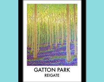 Gatton Park, Reigate Travel Poster